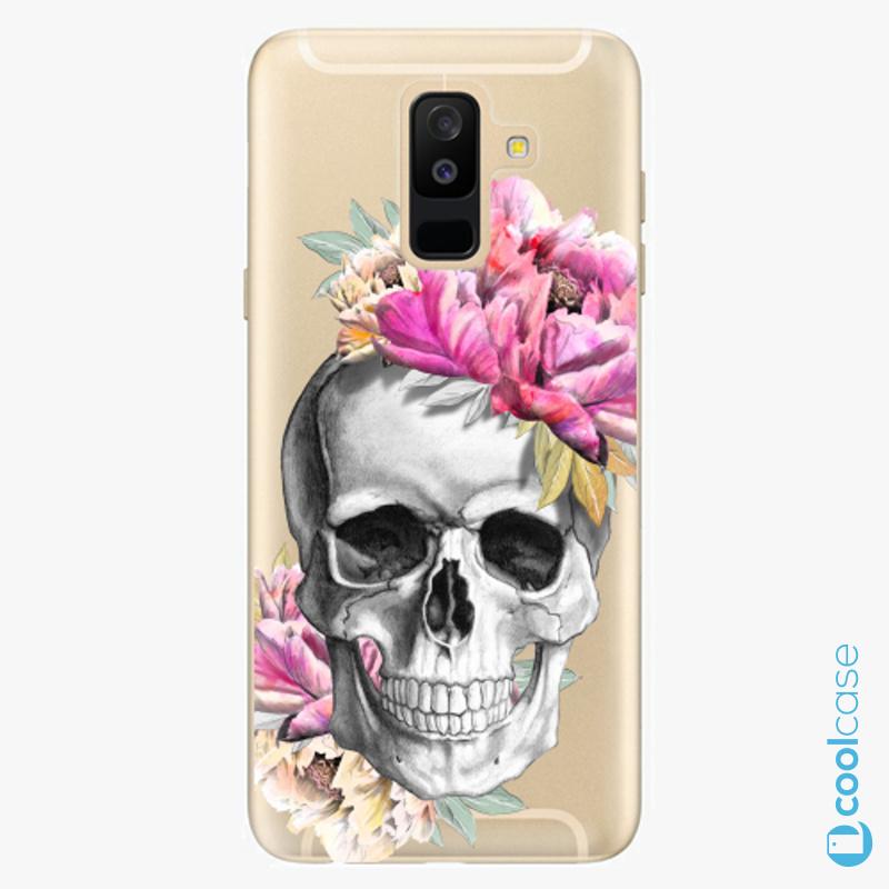 Silikonové pouzdro iSaprio - Pretty Skull na mobil Samsung Galaxy A6 Plus