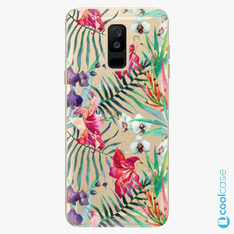 Silikonové pouzdro iSaprio - Flower Pattern 03 na mobil Samsung Galaxy A6 Plus