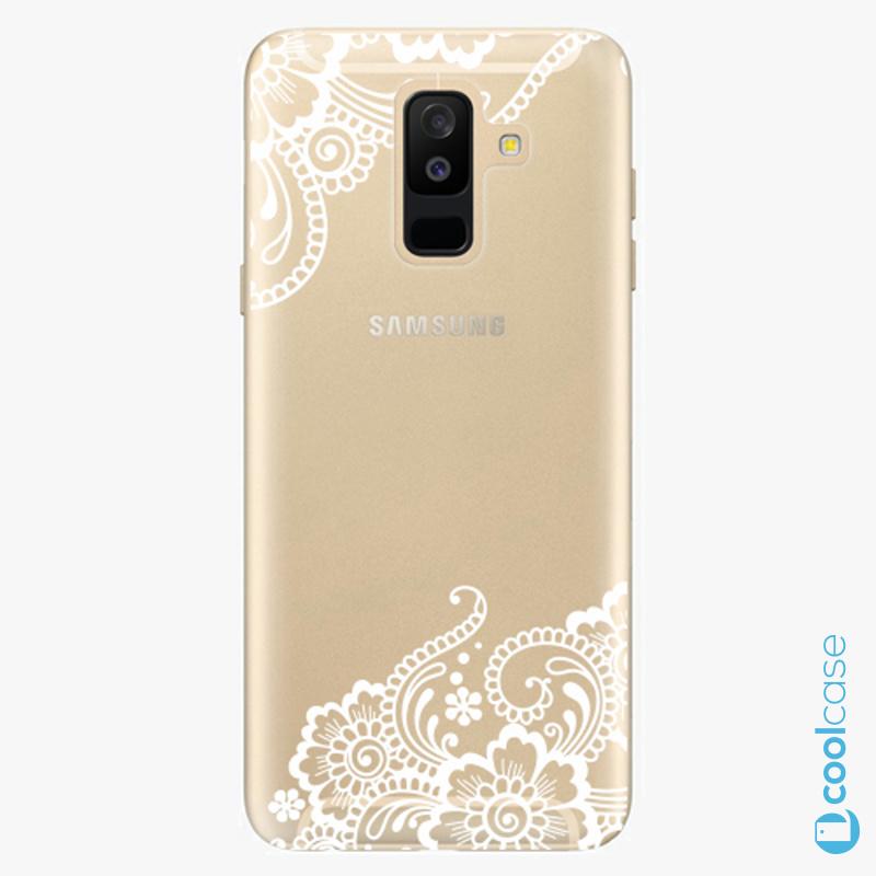 Silikonový obal, pouzdro, kryt iSaprio white Lace 02 na mobil Samsung Galaxy A6 Plus