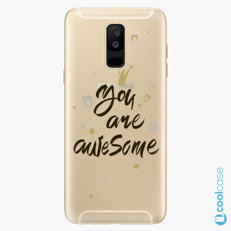 Silikonové pouzdro iSaprio - You Are Awesome black na mobil Samsung Galaxy A6 Plus