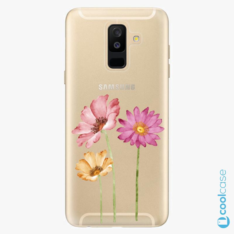 Silikonové pouzdro iSaprio - Three Flowers na mobil Samsung Galaxy A6 Plus
