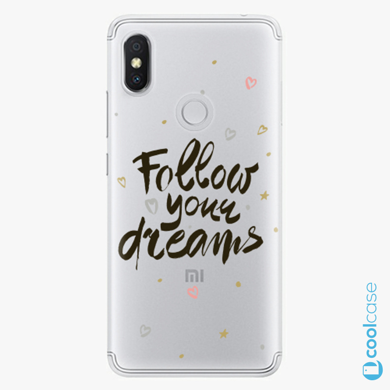 Silikonové pouzdro iSaprio - Follow Your Dreams black na mobil Xiaomi Redmi S2