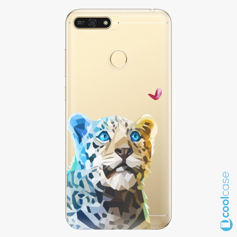 Silikonové pouzdro iSaprio - Leopard With Butterfly na mobil Honor 7A
