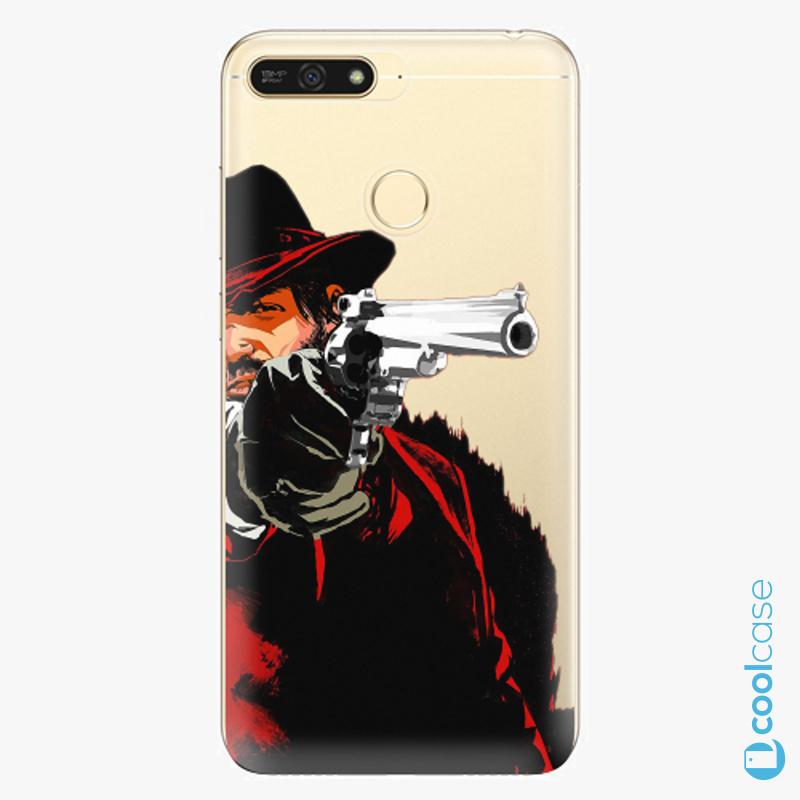 Silikonové pouzdro iSaprio - Red Sheriff na mobil Honor 7A