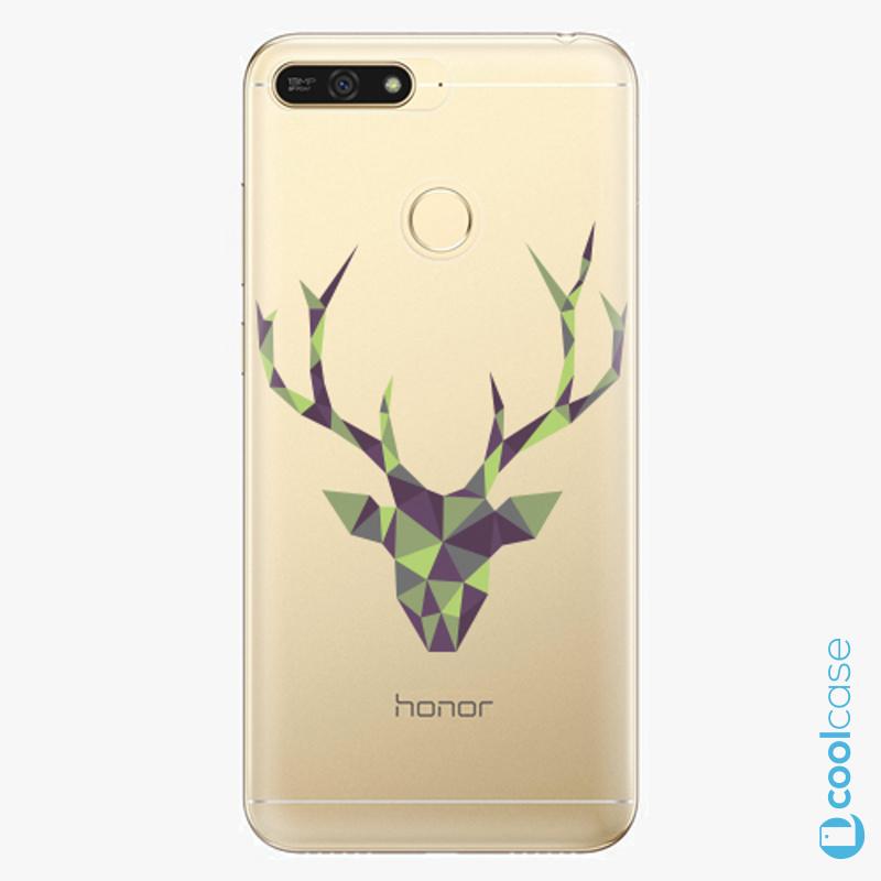 Silikonové pouzdro iSaprio - Deer Green na mobil Honor 7A