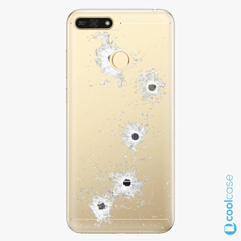 Silikonové pouzdro iSaprio - Gunshots na mobil Honor 7A