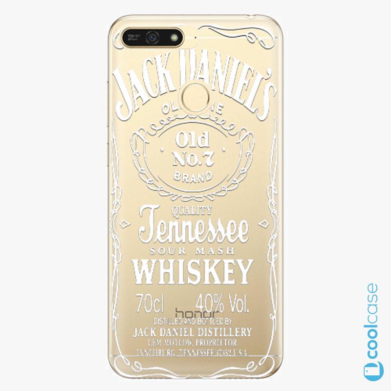 Silikonové pouzdro iSaprio - Transparent White Jack na mobil Honor 7A