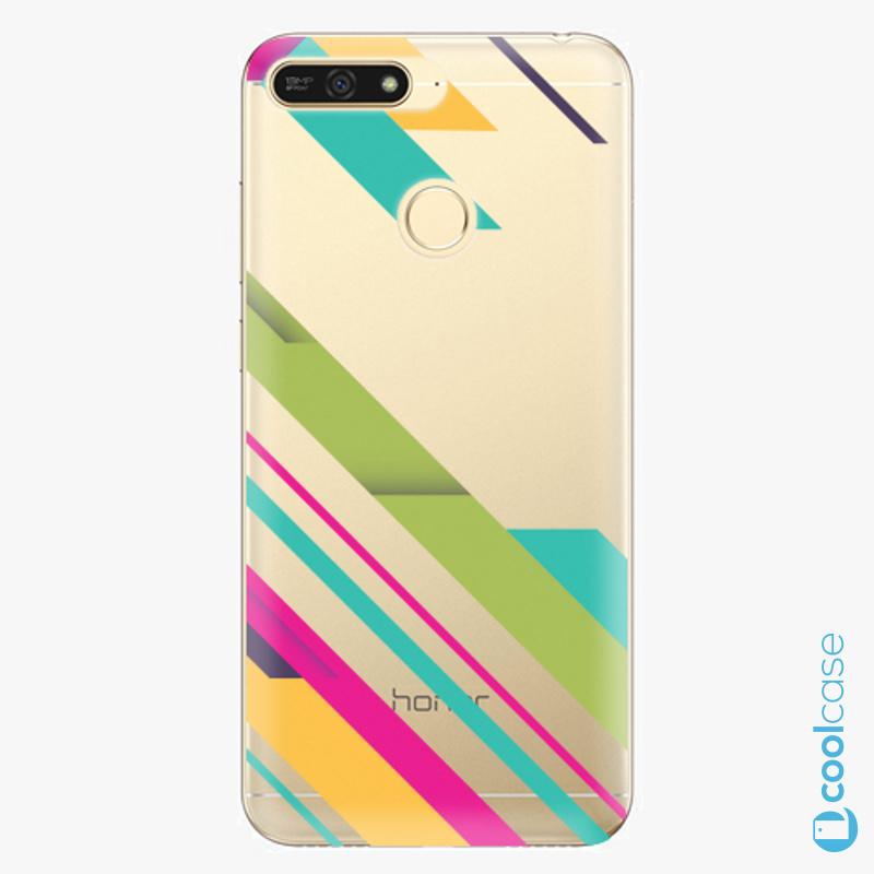 Silikonové pouzdro iSaprio - Color Stripes 03 na mobil Honor 7A