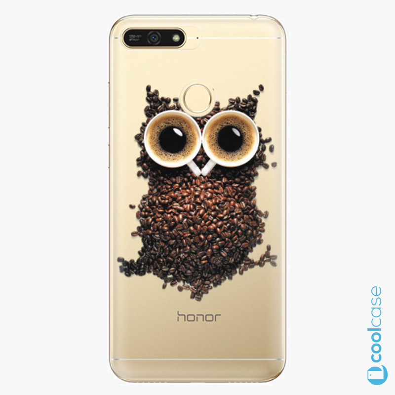 Silikonové pouzdro iSaprio - Owl And Coffee na mobil Honor 7A