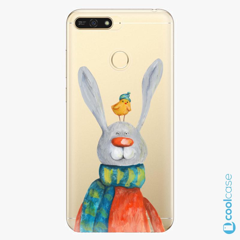 Silikonové pouzdro iSaprio - Rabbit And Bird na mobil Honor 7A