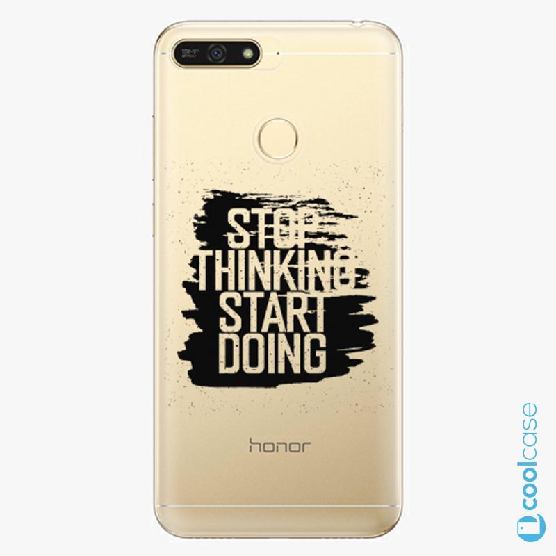 Silikonové pouzdro iSaprio - Start Doing black na mobil Honor 7A