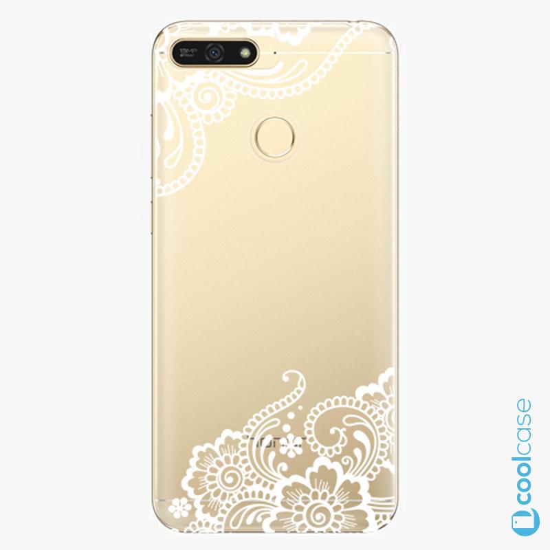 Silikonový obal, pouzdro, kryt iSaprio white Lace 02 na mobil Honor 7A
