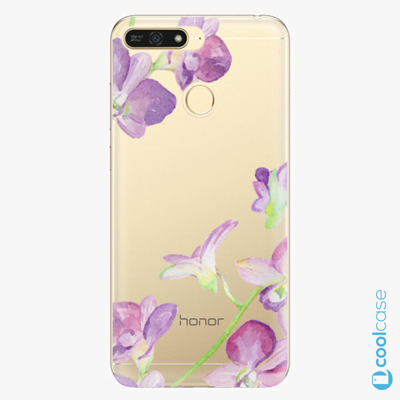 Silikonový obal, pouzdro, kryt iSaprio purple Orchid na mobil Honor 7A