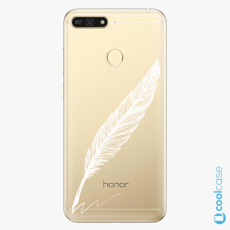 Silikonové pouzdro iSaprio - Writing By Feather white na mobil Honor 7A