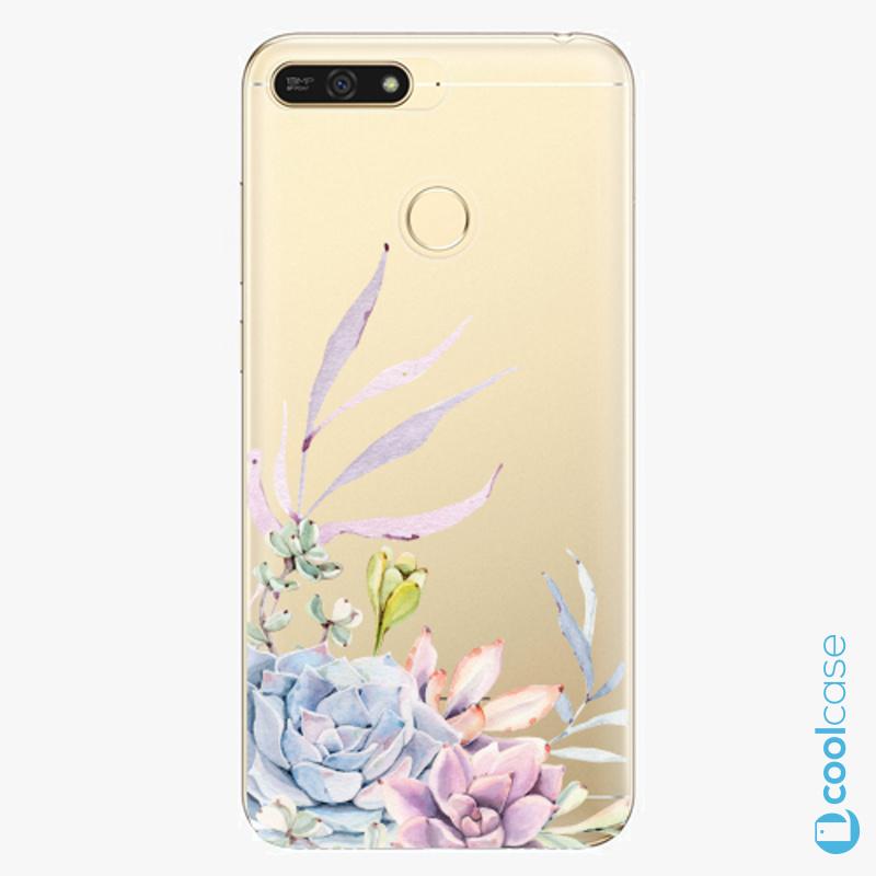 Silikonové pouzdro iSaprio - Succulent 01 na mobil Honor 7A