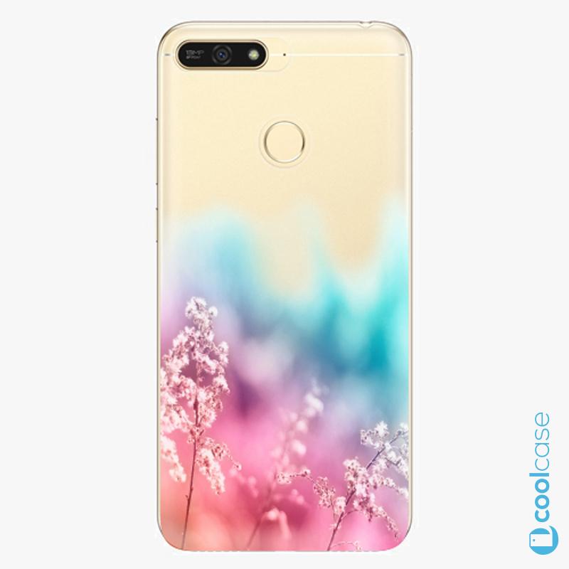 Silikonové pouzdro iSaprio - Rainbow Grass na mobil Honor 7A