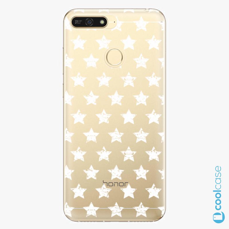 Silikonové pouzdro iSaprio - Stars Pattern white na mobil Honor 7A