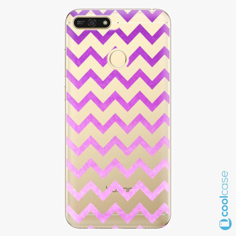 Silikonové pouzdro iSaprio - Zigzag purple na mobil Honor 7A