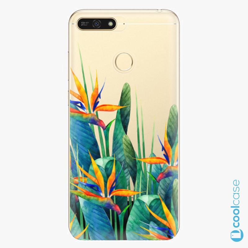 Silikonové pouzdro iSaprio - Exotic Flowers na mobil Honor 7A