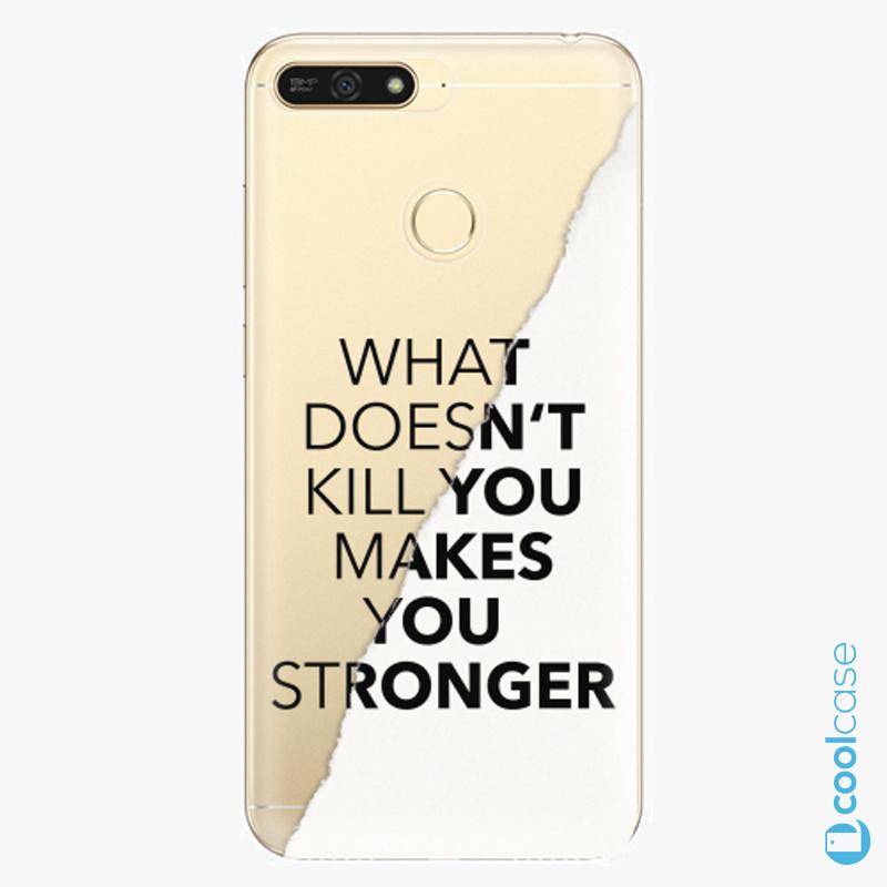 Silikonové pouzdro iSaprio - Makes You Stronger na mobil Honor 7A