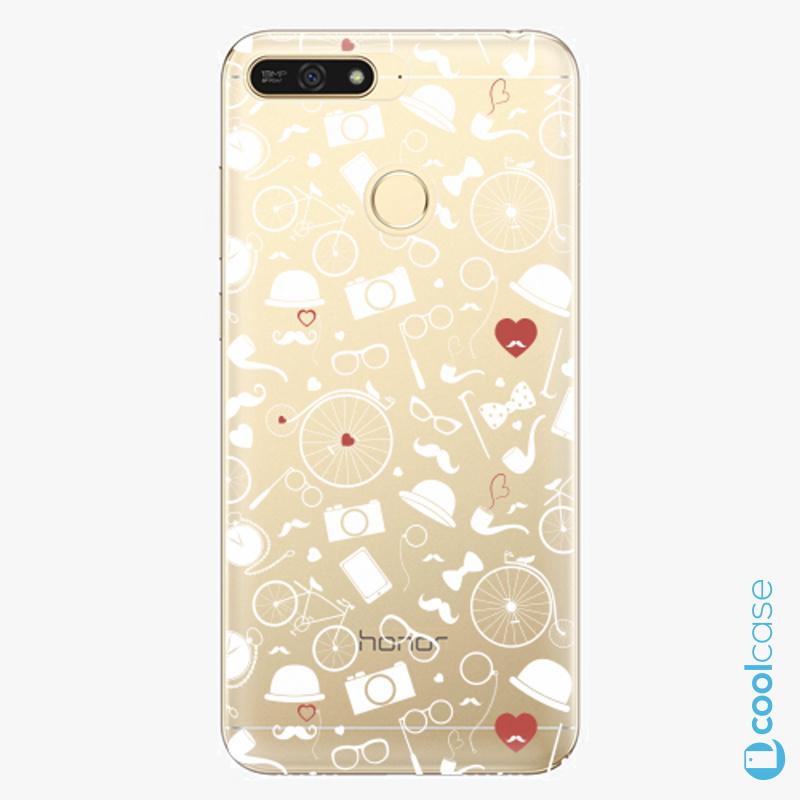 Silikonové pouzdro iSaprio - Vintage Pattern 01 white na mobil Honor 7A