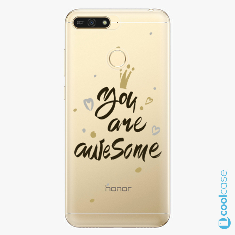 Silikonové pouzdro iSaprio - You Are Awesome black na mobil Honor 7A