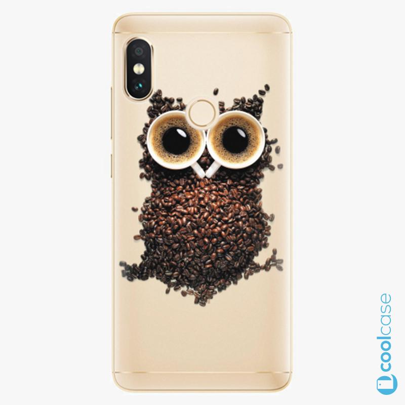 Silikonové pouzdro iSaprio - Owl And Coffee na mobil Xiaomi Redmi Note 5