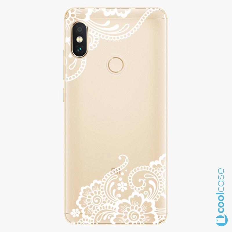 Silikonový obal, pouzdro, kryt iSaprio white Lace 02 na mobil Xiaomi Redmi Note 5