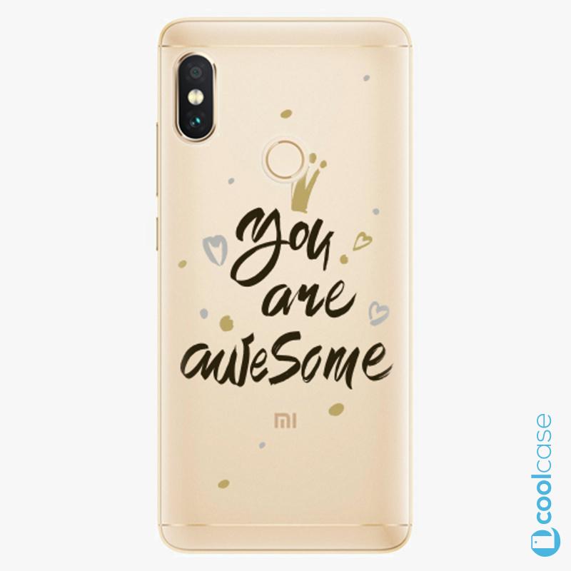 Silikonové pouzdro iSaprio - You Are Awesome black na mobil Xiaomi Redmi Note 5