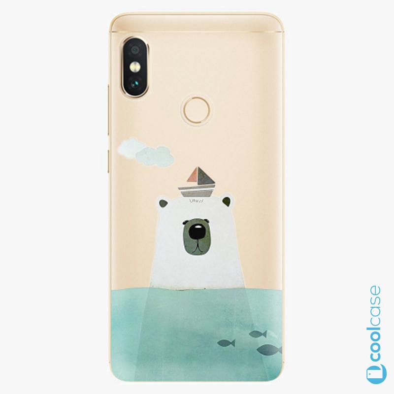 Silikonové pouzdro iSaprio - Bear With Boat na mobil Xiaomi Redmi Note 5