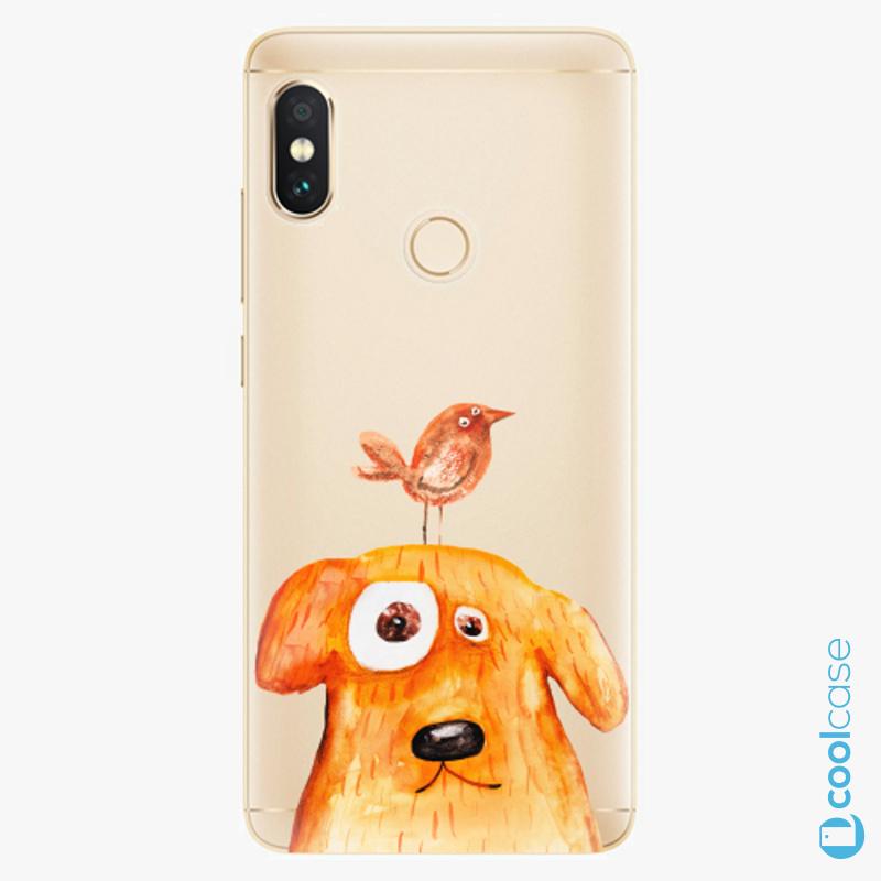 Silikonové pouzdro iSaprio - Dog And Bird na mobil Xiaomi Redmi Note 5