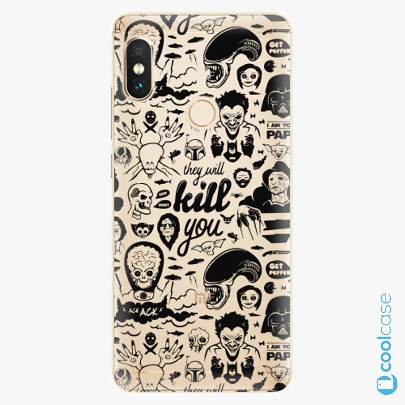 Silikonové pouzdro iSaprio - Comics 01 black na mobil Xiaomi Redmi Note 5