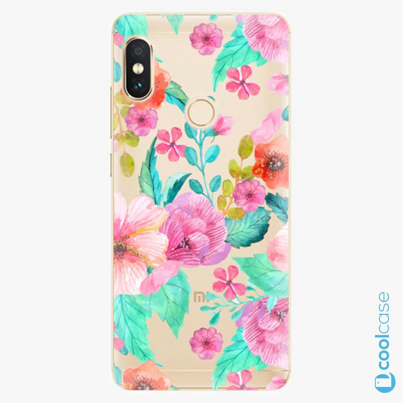 Silikonové pouzdro iSaprio - Flower Pattern 01 na mobil Xiaomi Redmi Note 5