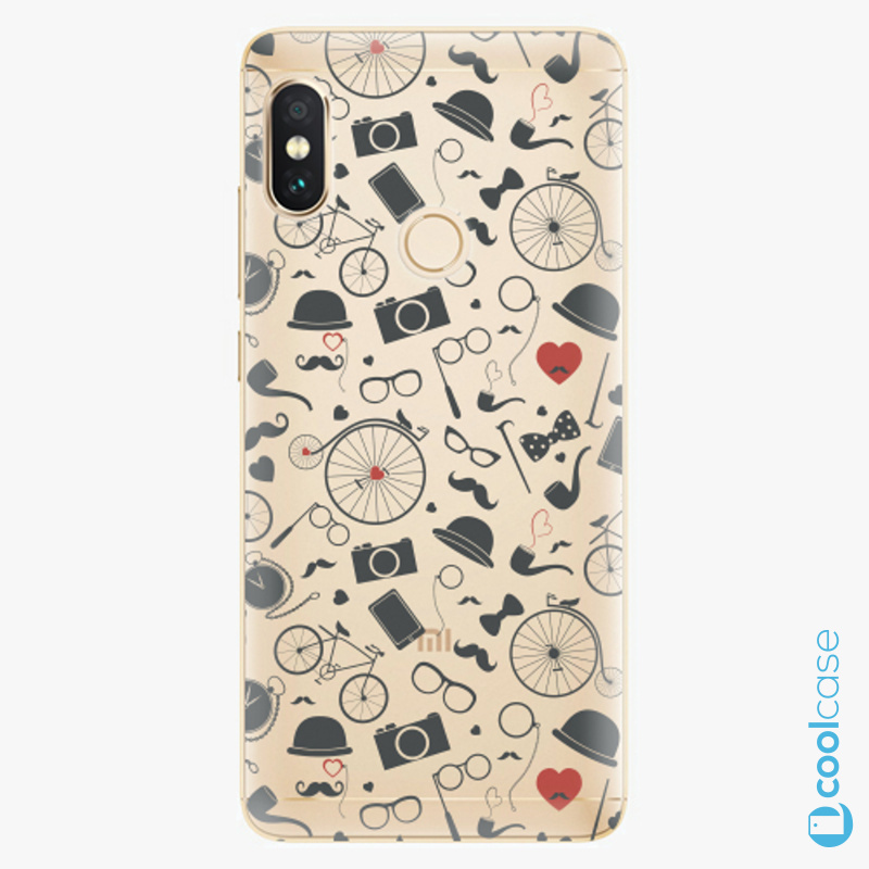Silikonové pouzdro iSaprio - Vintage Pattern 01 black na mobil Xiaomi Redmi Note 5