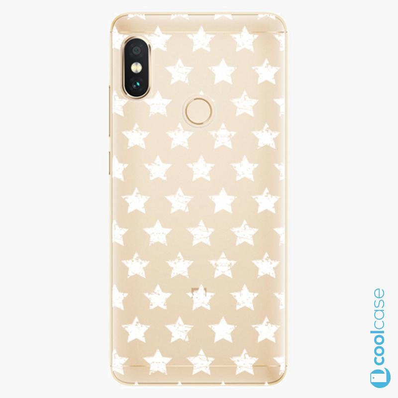 Silikonové pouzdro iSaprio - Stars Pattern white na mobil Xiaomi Redmi Note 5