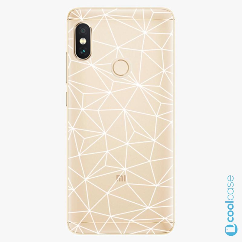 Silikonové pouzdro iSaprio - Abstract Triangles 03 white na mobil Xiaomi Redmi Note 5