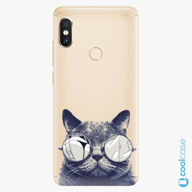 Silikonové pouzdro iSaprio - Crazy Cat 01 na mobil Xiaomi Redmi Note 5