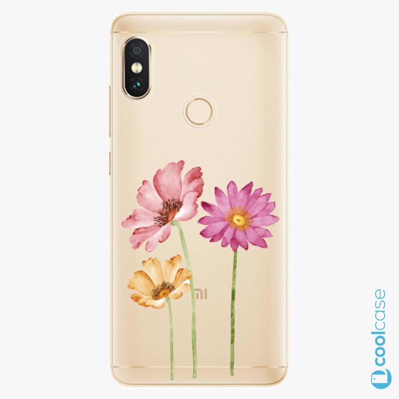 Silikonové pouzdro iSaprio - Three Flowers na mobil Xiaomi Redmi Note 5