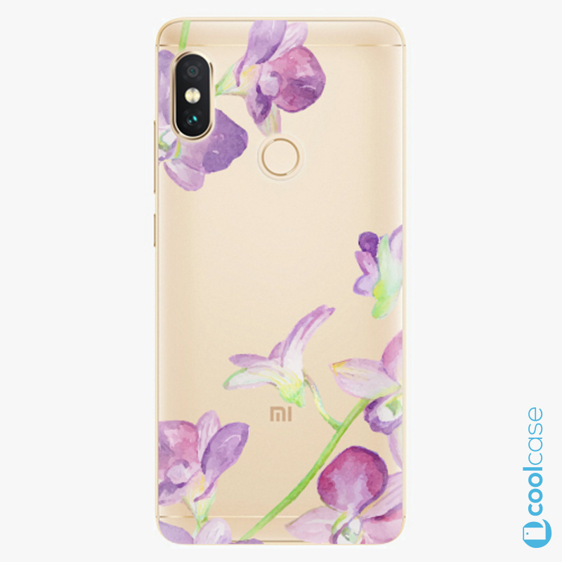Silikonový obal, pouzdro, kryt iSaprio purple Orchid na mobil Xiaomi Redmi Note 5