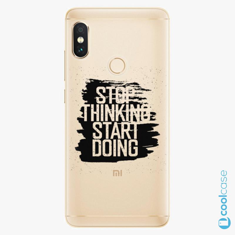Silikonové pouzdro iSaprio - Start Doing black na mobil Xiaomi Redmi Note 5