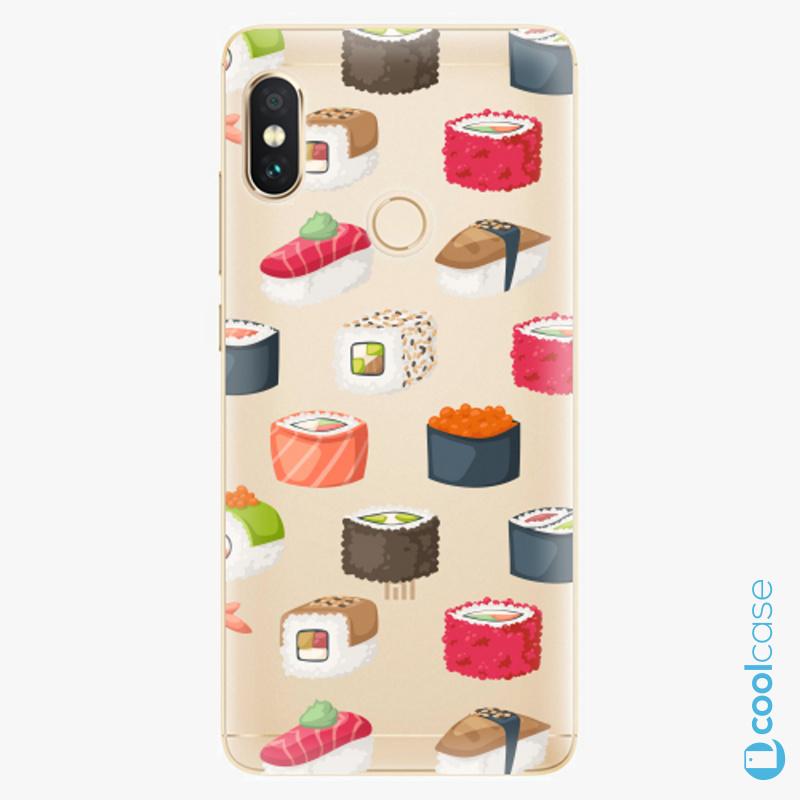 Silikonové pouzdro iSaprio - Sushi Pattern na mobil Xiaomi Redmi Note 5