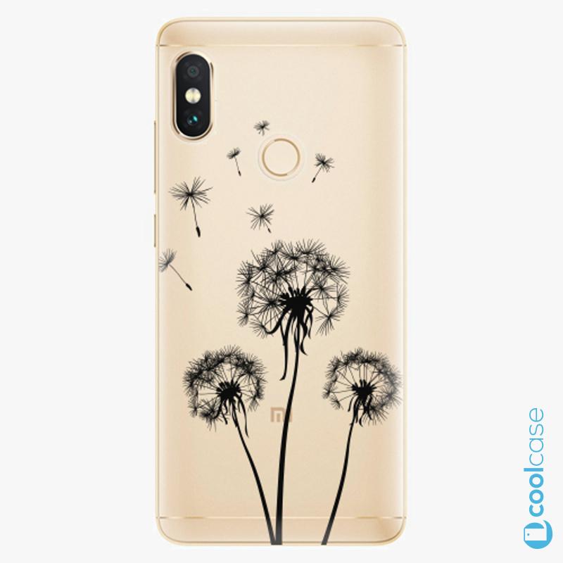 Silikonové pouzdro iSaprio - Three Dandelions black na mobil Xiaomi Redmi Note 5