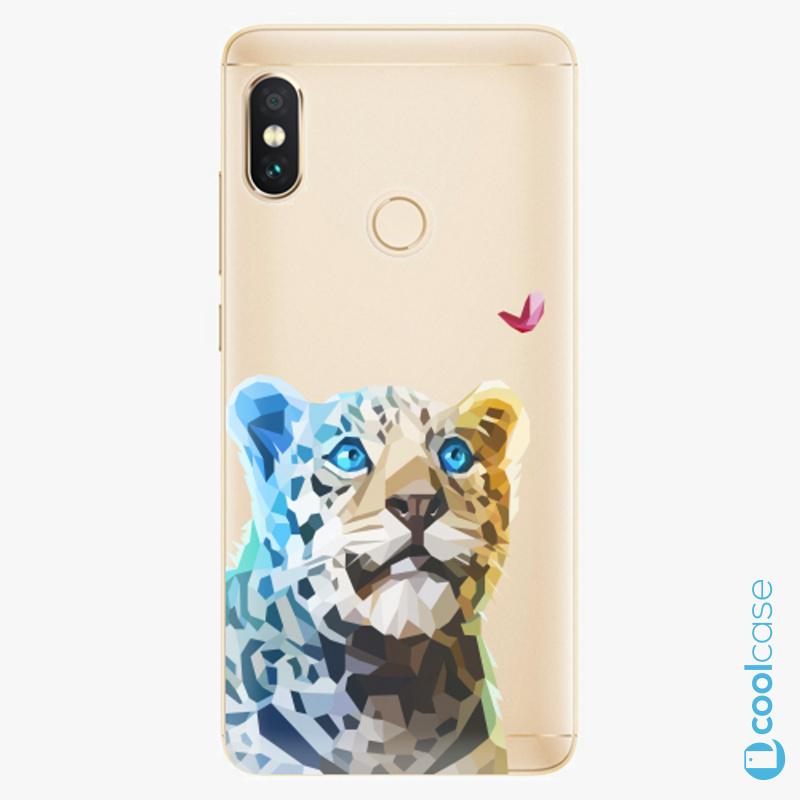 Silikonové pouzdro iSaprio - Leopard With Butterfly na mobil Xiaomi Redmi Note 5