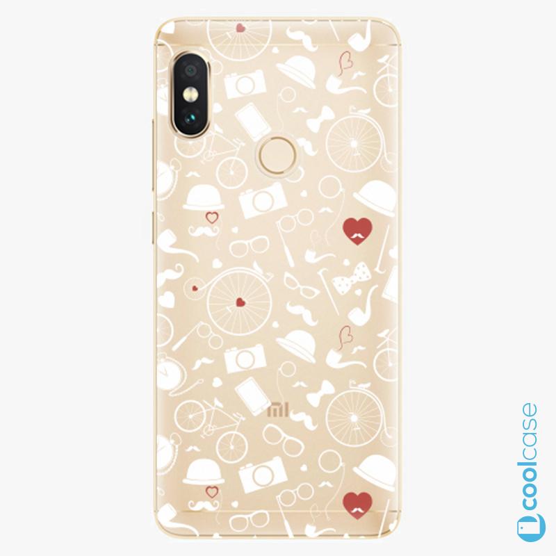 Silikonové pouzdro iSaprio - Vintage Pattern 01 white na mobil Xiaomi Redmi Note 5