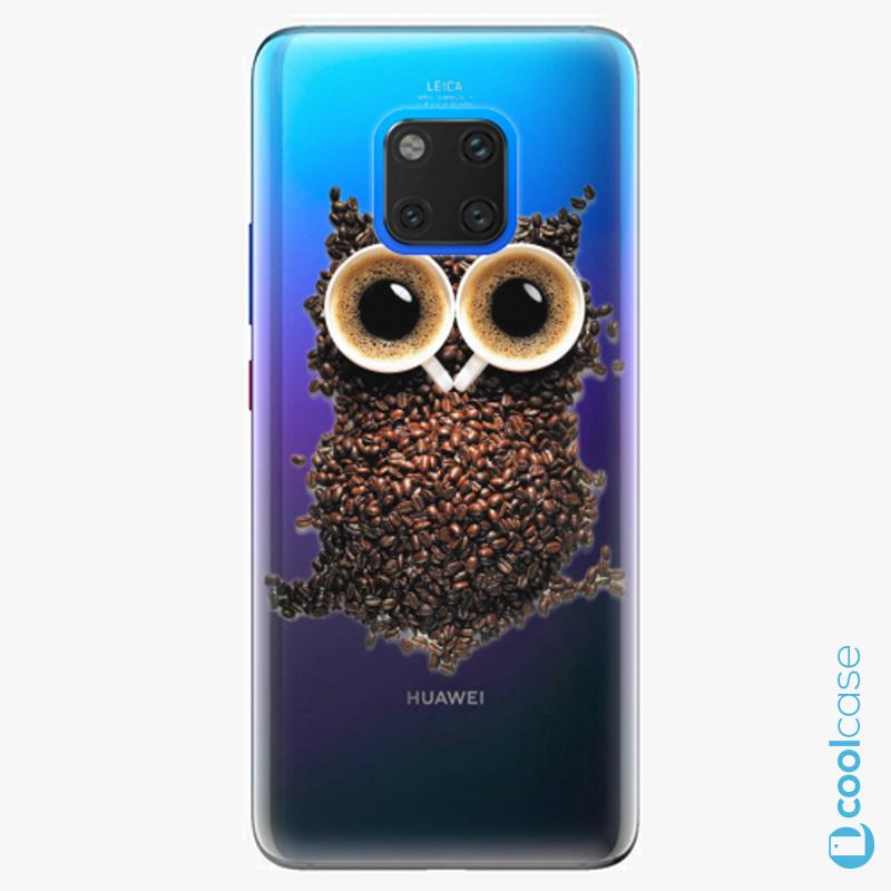 Silikonové pouzdro iSaprio - Owl And Coffee na mobil Huawei Mate 20 Pro