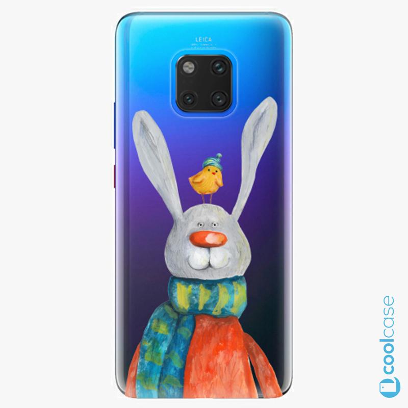 Silikonové pouzdro iSaprio - Rabbit And Bird na mobil Huawei Mate 20 Pro