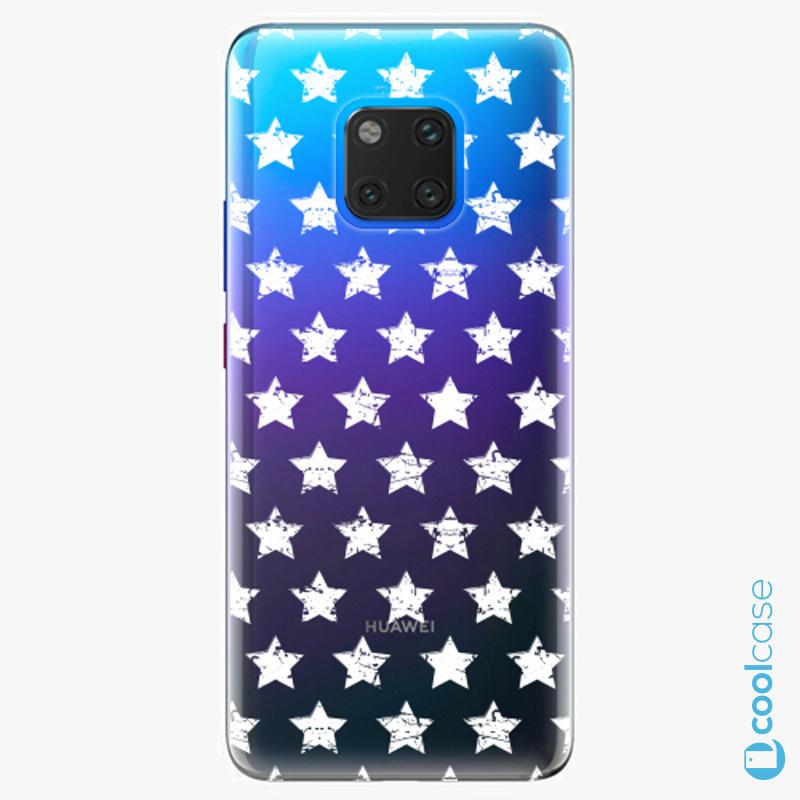 Silikonové pouzdro iSaprio - Stars Pattern white na mobil Huawei Mate 20 Pro