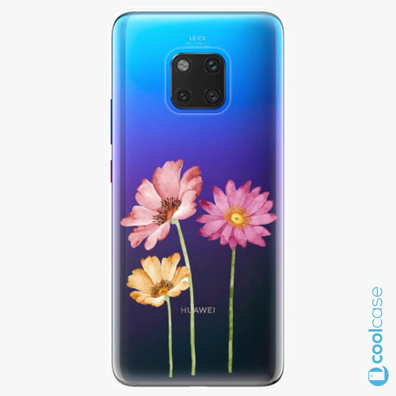 Silikonové pouzdro iSaprio - Three Flowers na mobil Huawei Mate 20 Pro