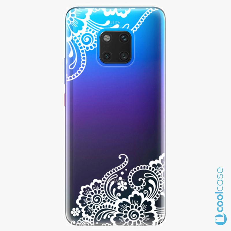 Silikonový obal, pouzdro, kryt iSaprio white Lace 02 na mobil Huawei Mate 20 Pro