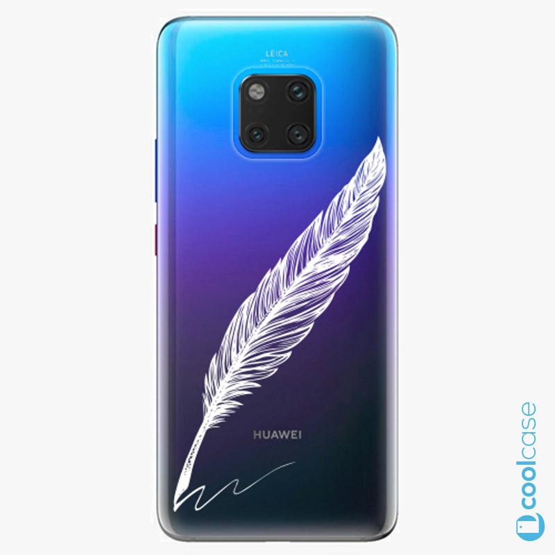 Silikonové pouzdro iSaprio - Writing By Feather white na mobil Huawei Mate 20 Pro